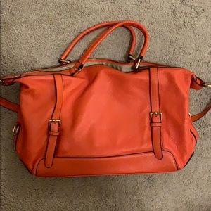 Orange Ora delphine leather purse